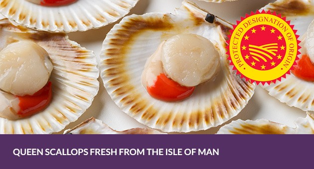 Quality shellfish supplied to you - Isle of Man Queen Scallops